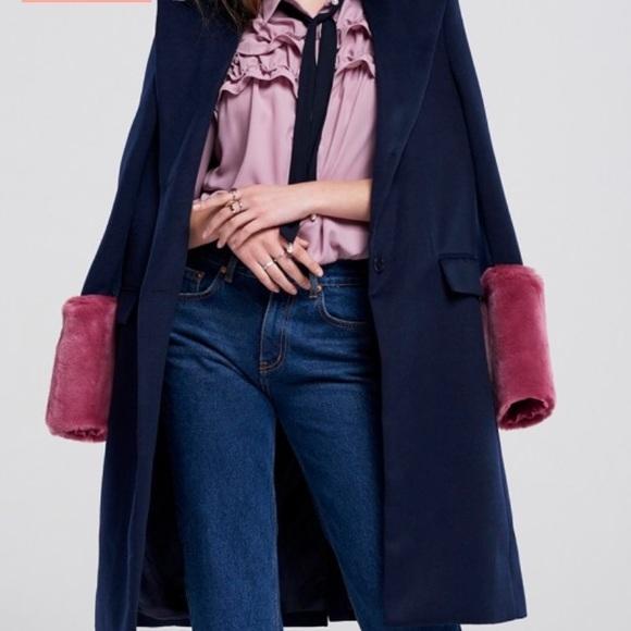 Storets Jackets & Blazers - Gemma Faux Fur Sleeve Coat Storets